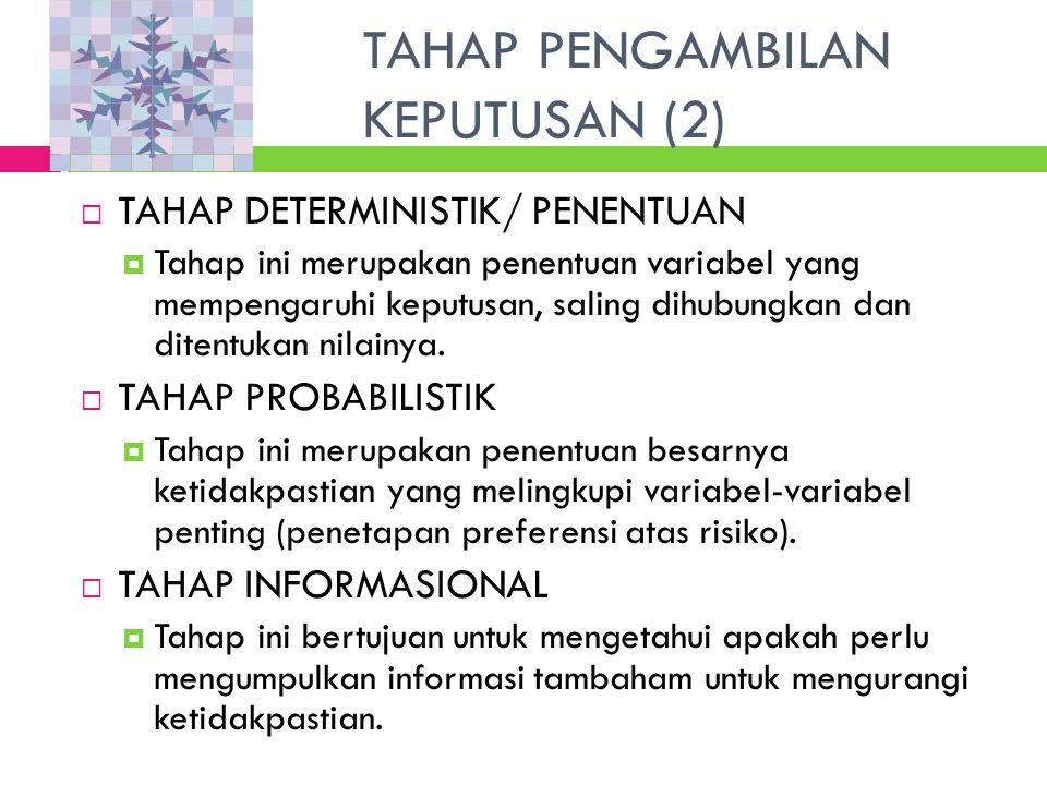 TAHAP PENGAMBILAN KEPUTUSAN (2)