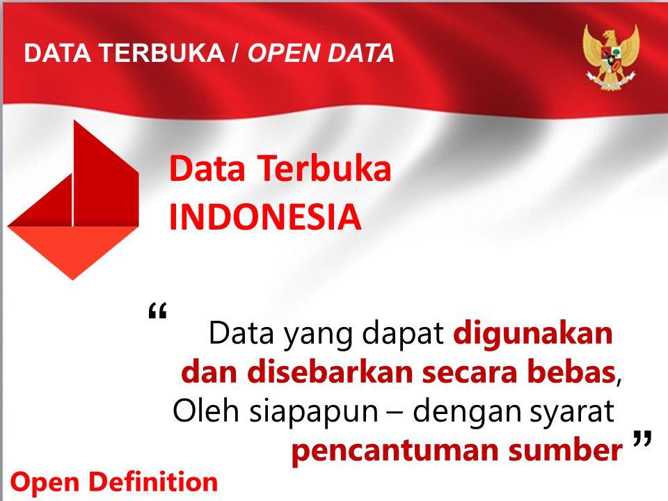 Data Terbuka INDONESIA Data yang dapat digunakan
