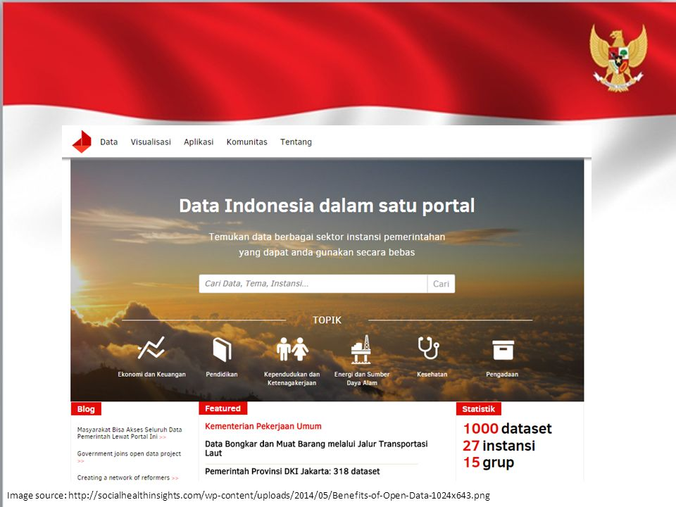 Portal Data Indonesia adalah platform untuk keterbukaan informasi publik, data pemerintah tersedia dalam format yang terbuka, mudah diakses dan mudah digunakan kembali.
