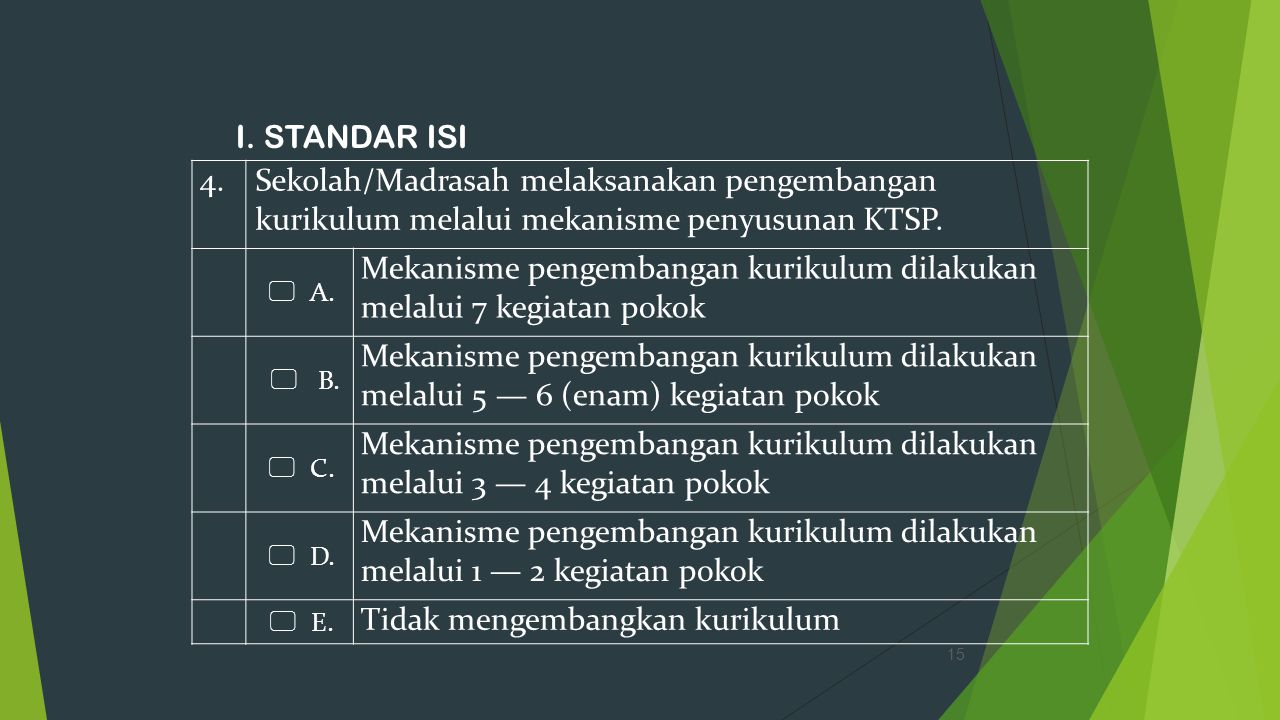 Mekanisme pengembangan kurikulum dilakukan melalui 7 kegiatan pokok