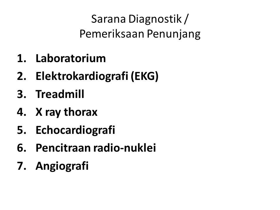 Sarana Diagnostik / Pemeriksaan Penunjang