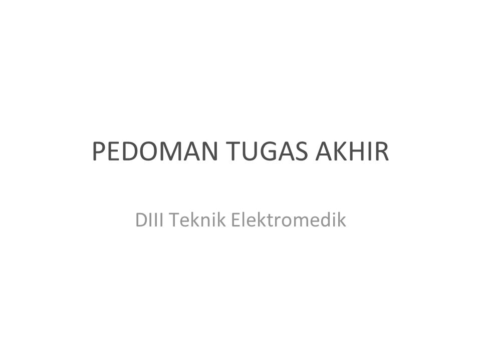 DIII Teknik Elektromedik
