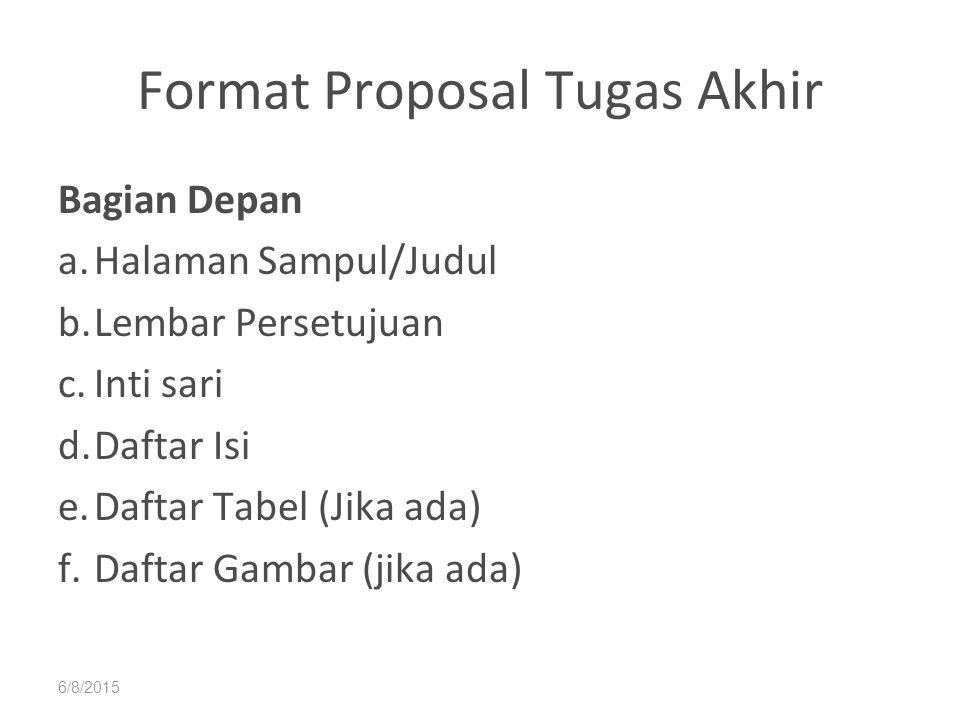 Format Proposal Tugas Akhir