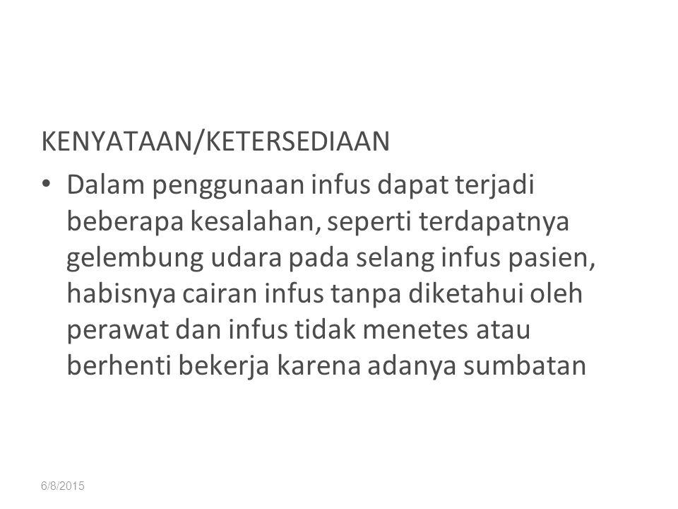 KENYATAAN/KETERSEDIAAN