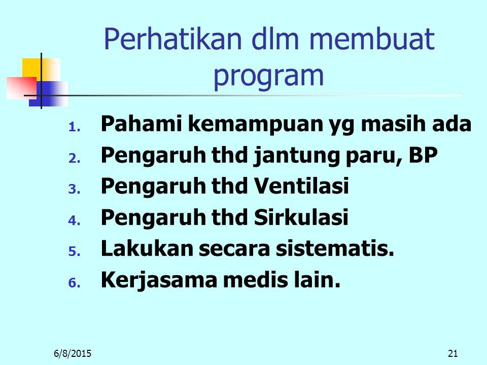 Perhatikan dlm membuat program