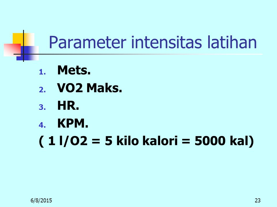 Parameter intensitas latihan