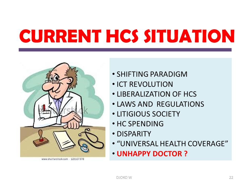 CURRENT HCS SITUATION SHIFTING PARADIGM ICT REVOLUTION