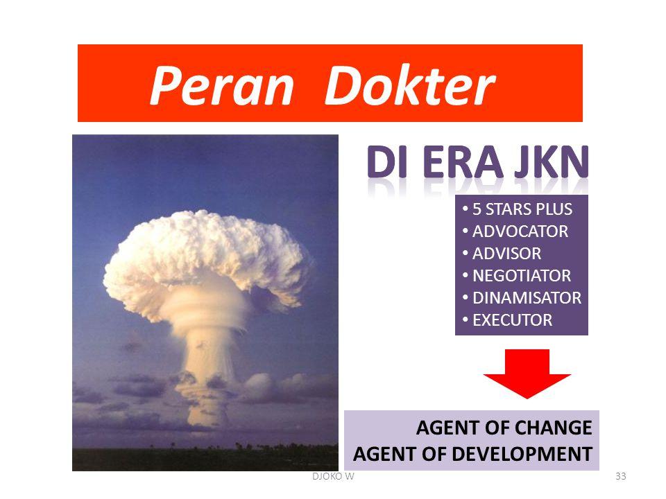 Peran Dokter DI ERA JKN AGENT OF CHANGE AGENT OF DEVELOPMENT