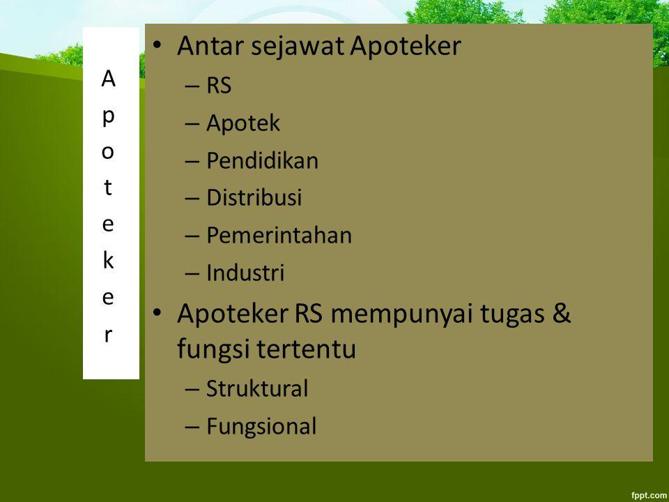 Antar sejawat Apoteker