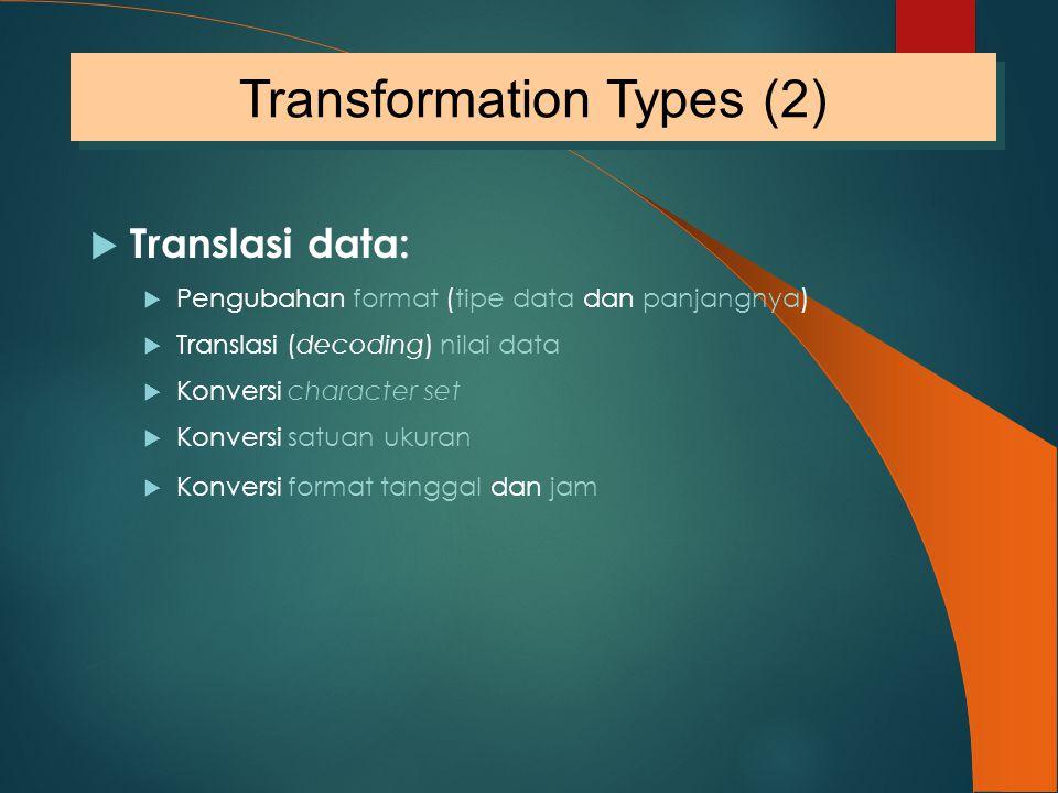 Transformation Types (2)