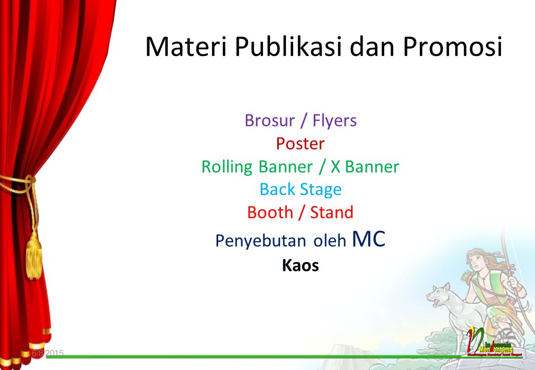Materi Publikasi dan Promosi