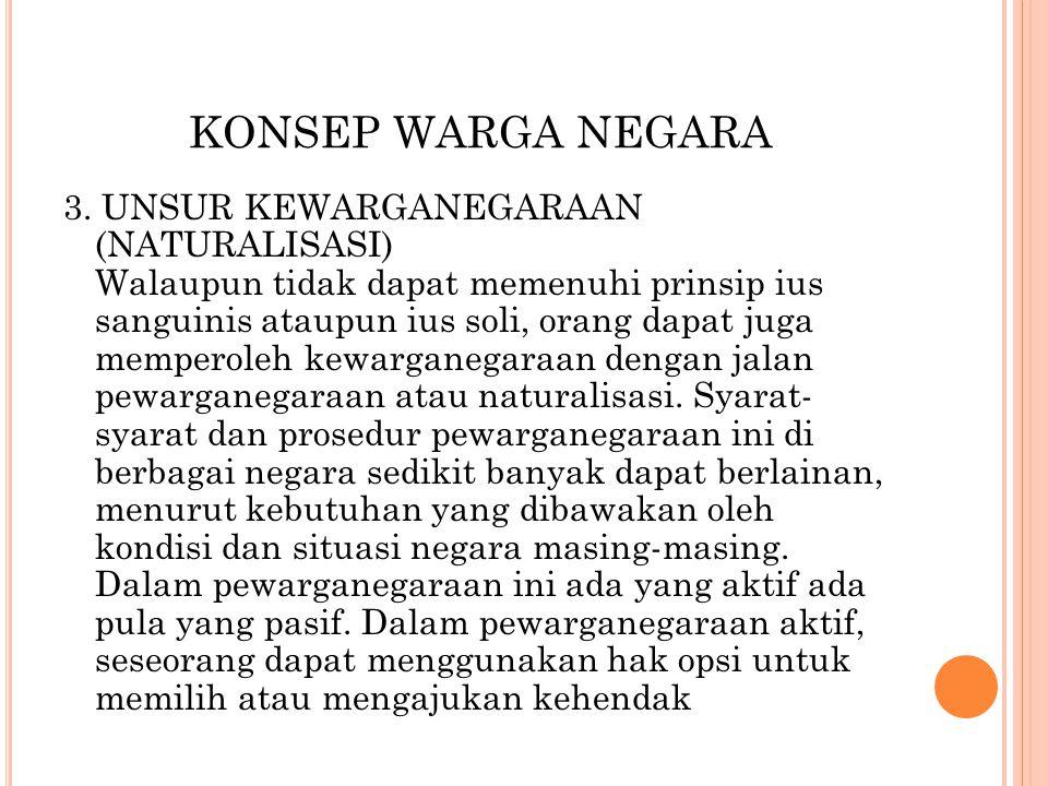 KONSEP WARGA NEGARA
