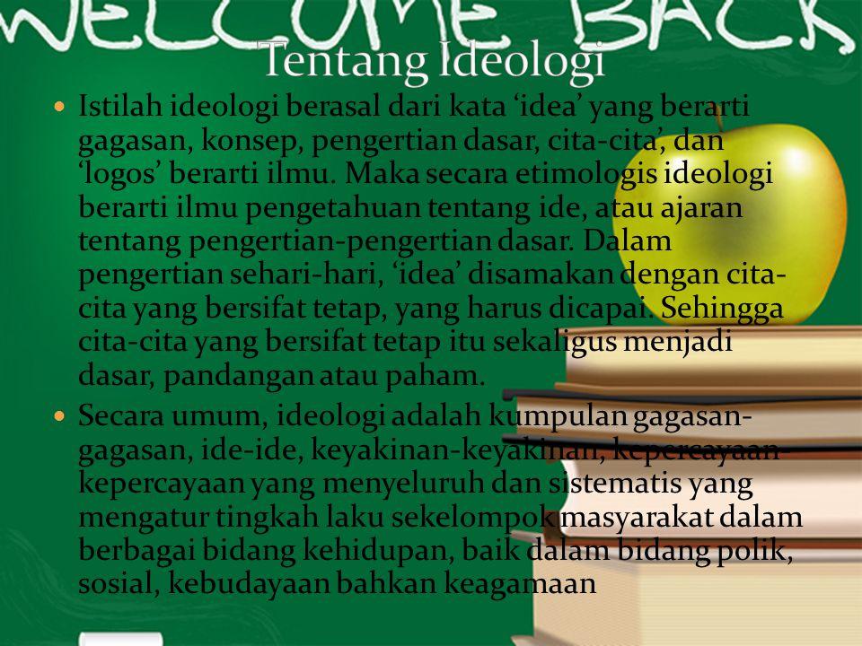 Tentang Ideologi