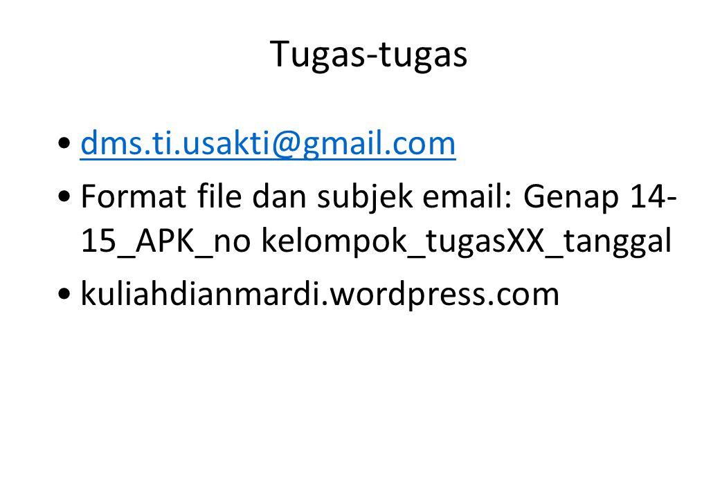 Tugas-tugas dms.ti.usakti@gmail.com