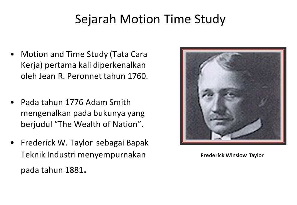 Sejarah Motion Time Study