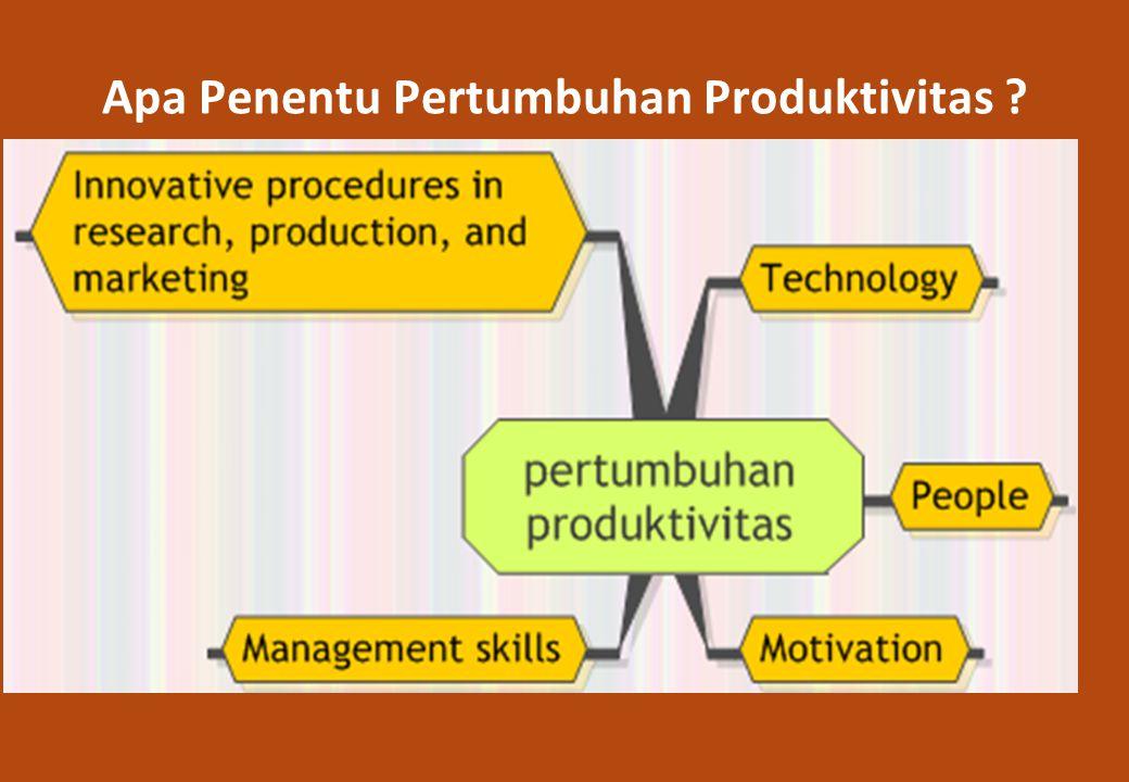 Apa Penentu Pertumbuhan Produktivitas