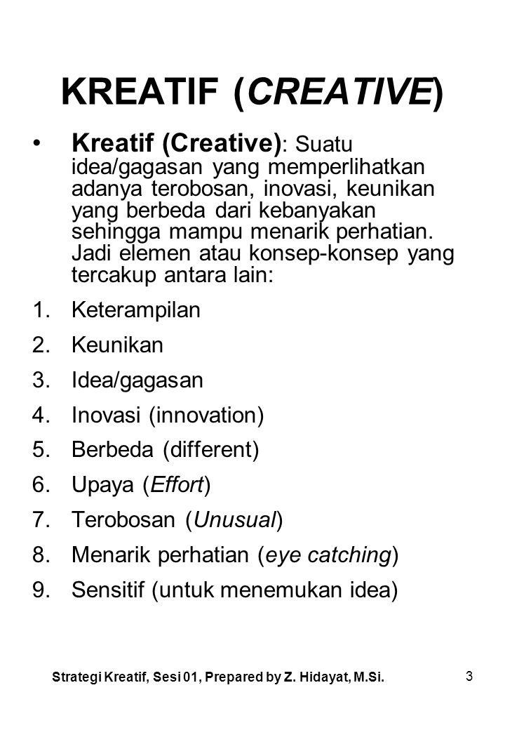 KREATIF (CREATIVE)