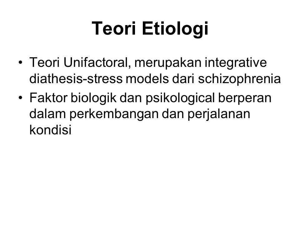 Teori Etiologi Teori Unifactoral, merupakan integrative diathesis-stress models dari schizophrenia.