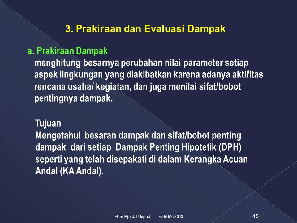 3. Prakiraan dan Evaluasi Dampak