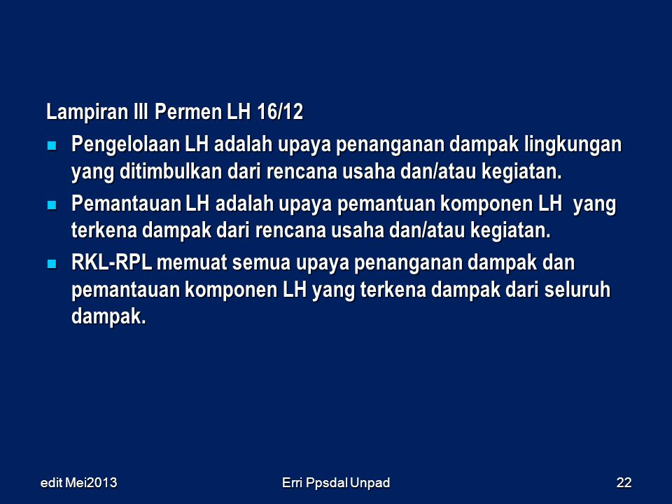 Lampiran III Permen LH 16/12