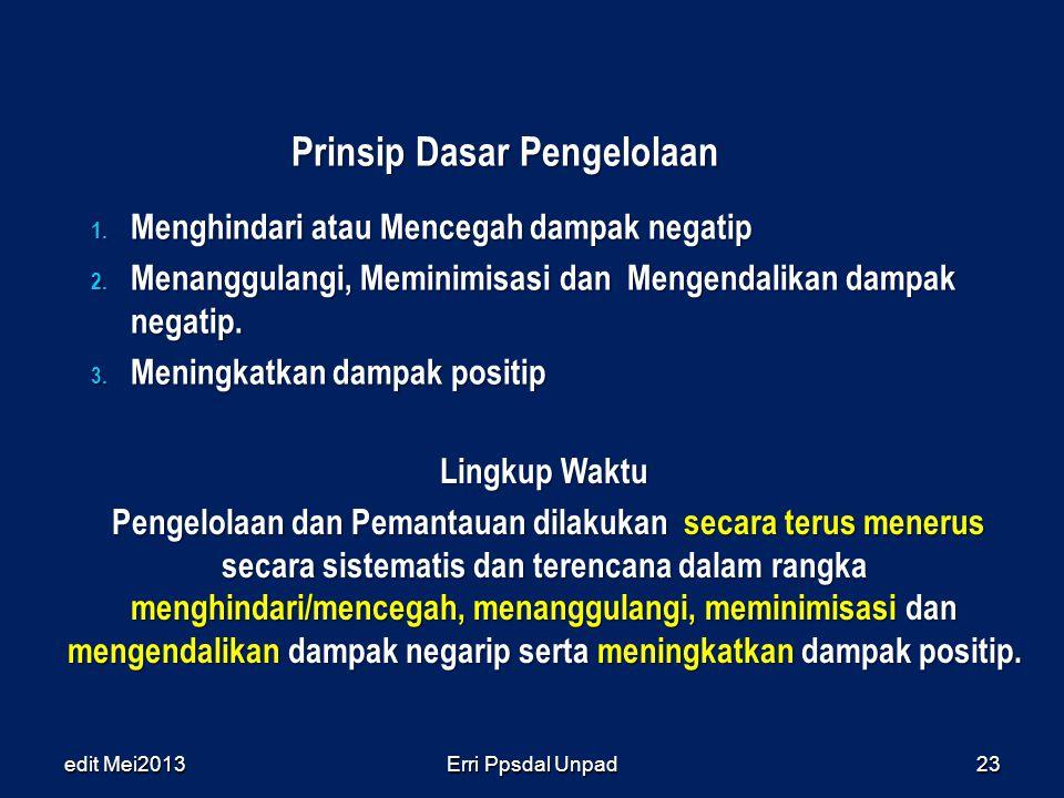 Prinsip Dasar Pengelolaan