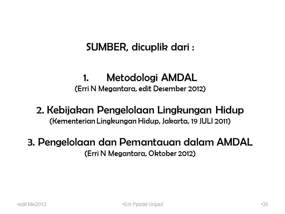 3. Pengelolaan dan Pemantauan dalam AMDAL
