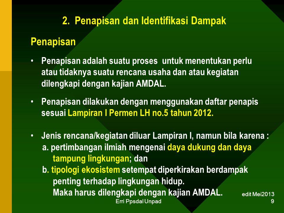 2. Penapisan dan Identifikasi Dampak