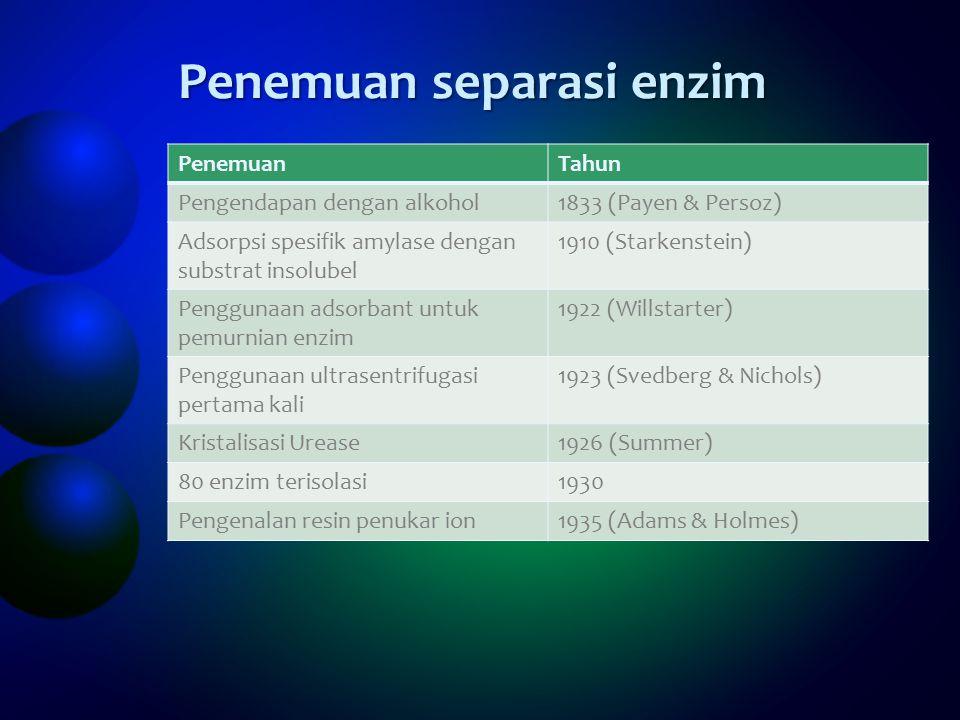 Penemuan separasi enzim