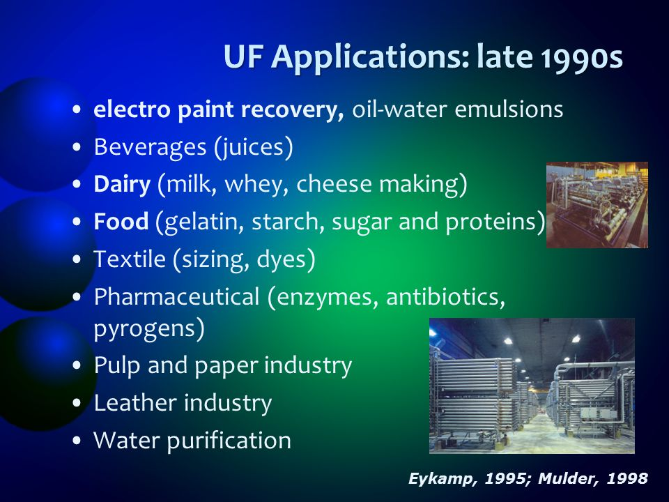 UF Applications: late 1990s