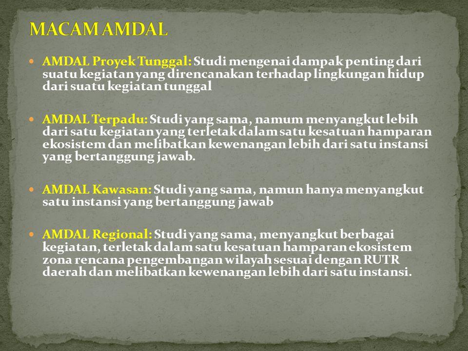 MACAM AMDAL