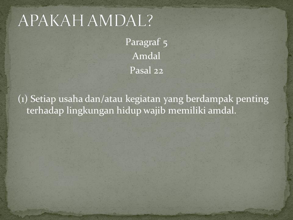 APAKAH AMDAL.
