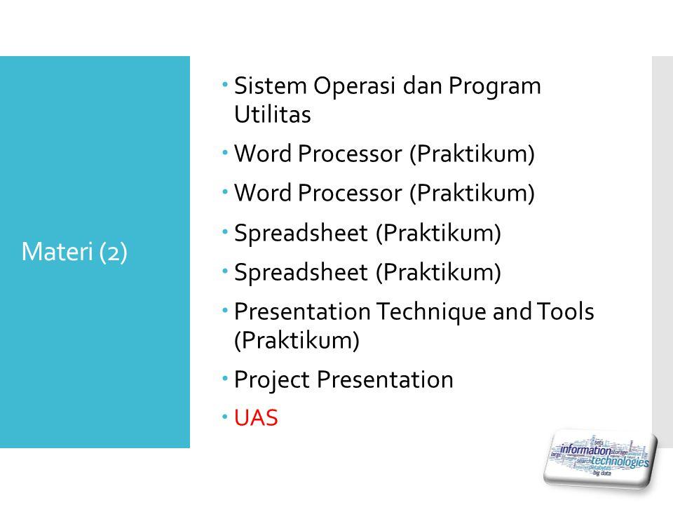 Materi (2) Sistem Operasi dan Program Utilitas