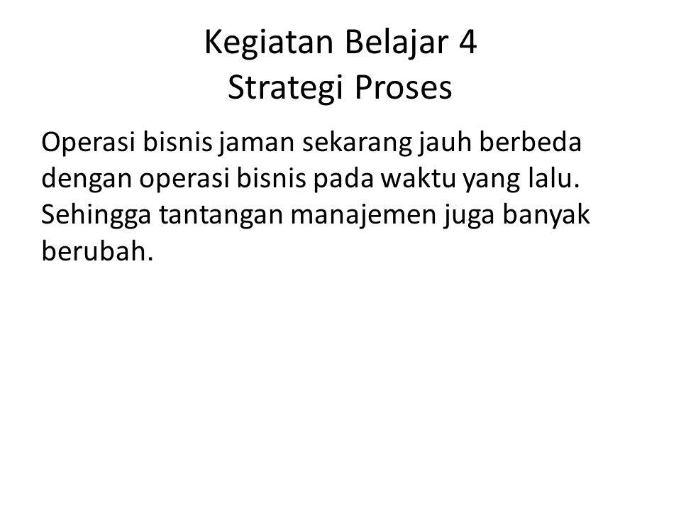 Kegiatan Belajar 4 Strategi Proses