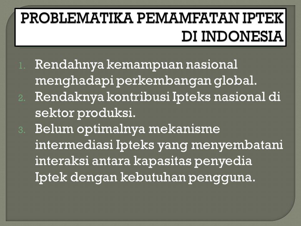 PROBLEMATIKA PEMAMFATAN IPTEK DI INDONESIA