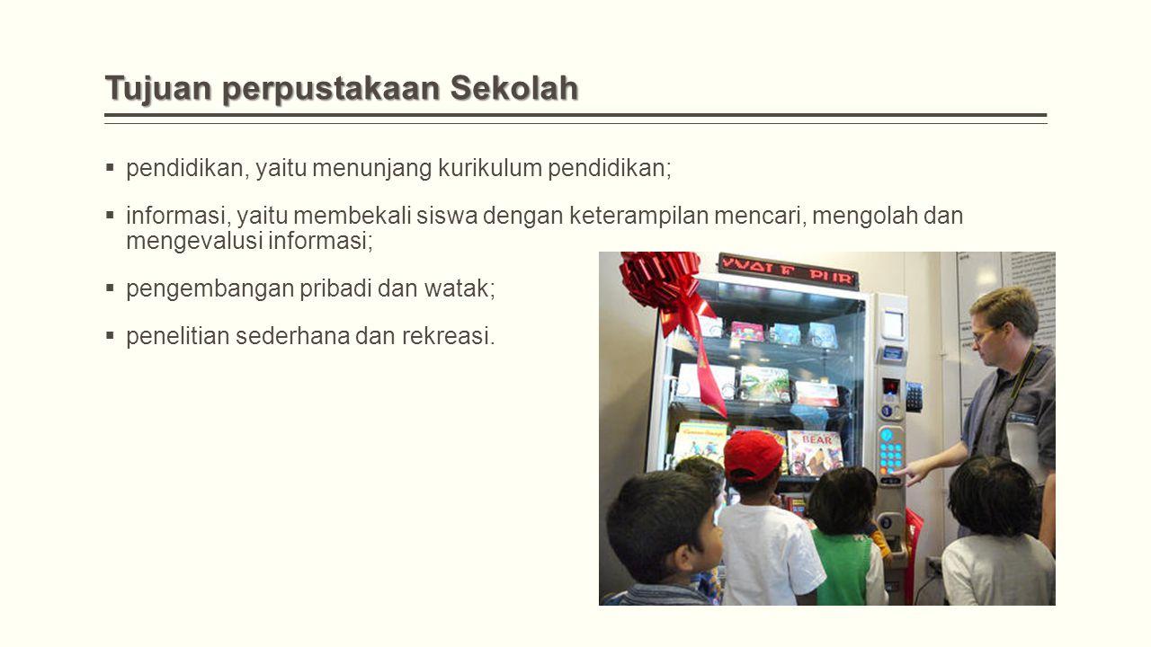 Tujuan perpustakaan Sekolah