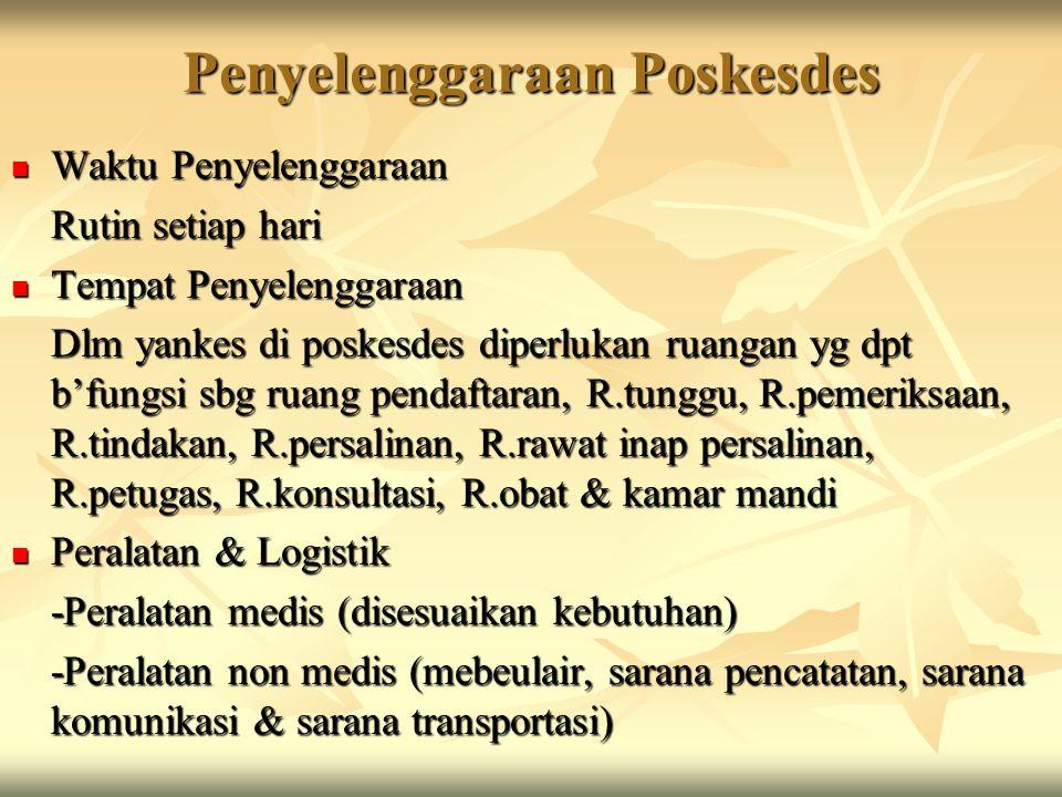 Penyelenggaraan Poskesdes