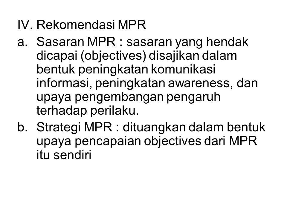 IV. Rekomendasi MPR