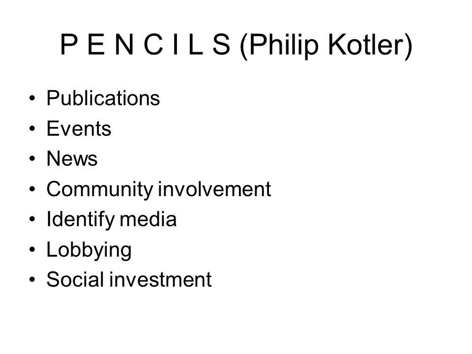 P E N C I L S (Philip Kotler)