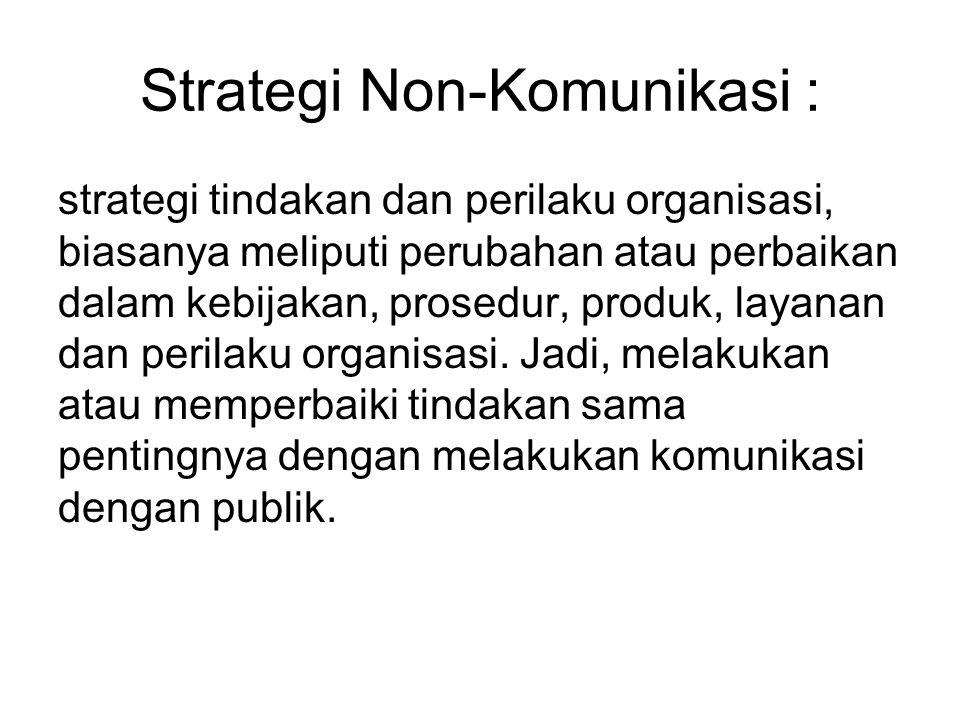 Strategi Non-Komunikasi :