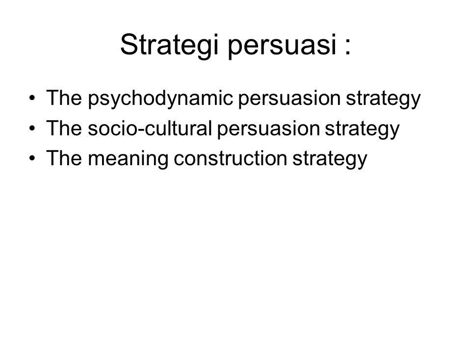 Strategi persuasi : The psychodynamic persuasion strategy