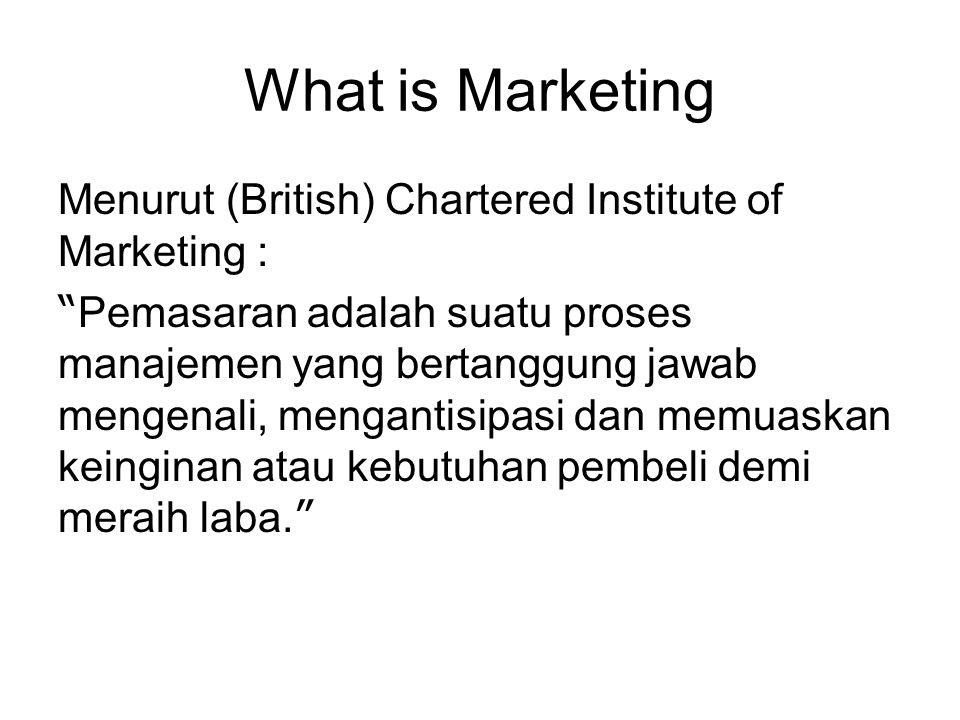 What is Marketing Menurut (British) Chartered Institute of Marketing :