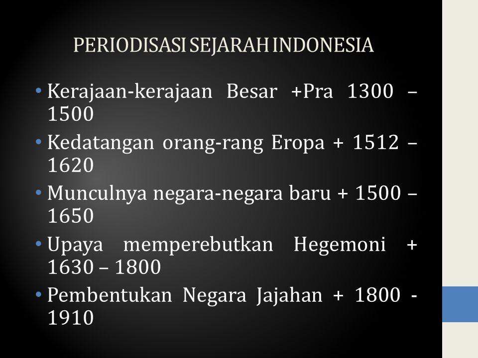 PERIODISASI SEJARAH INDONESIA