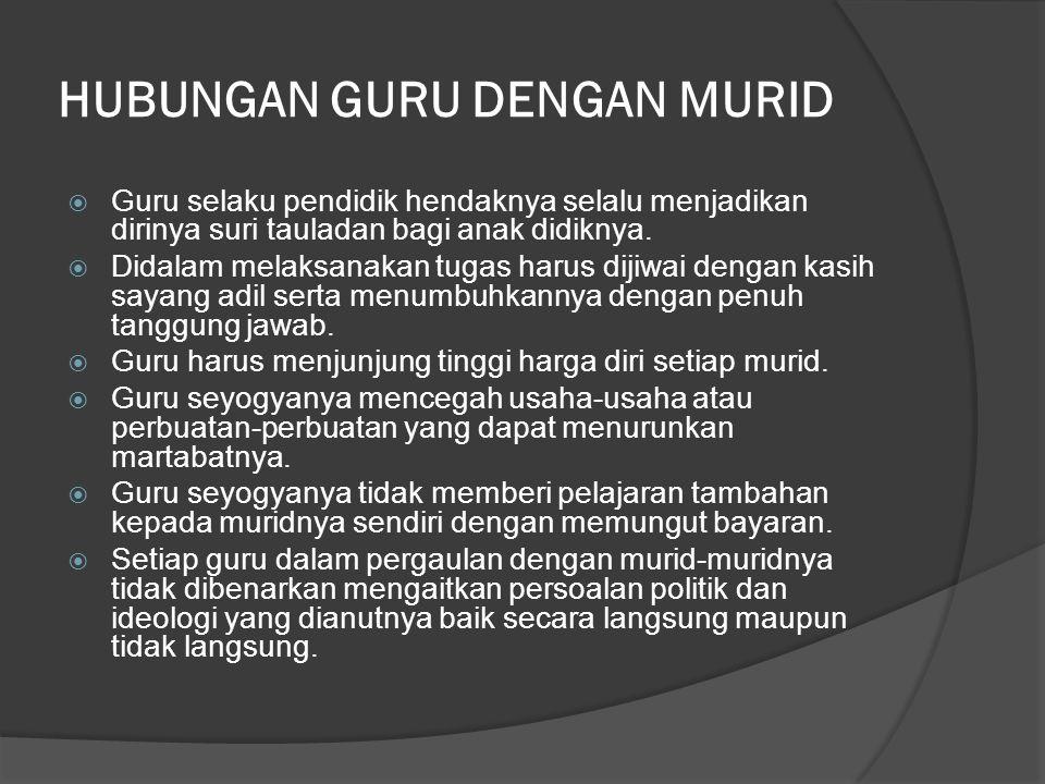 HUBUNGAN GURU DENGAN MURID