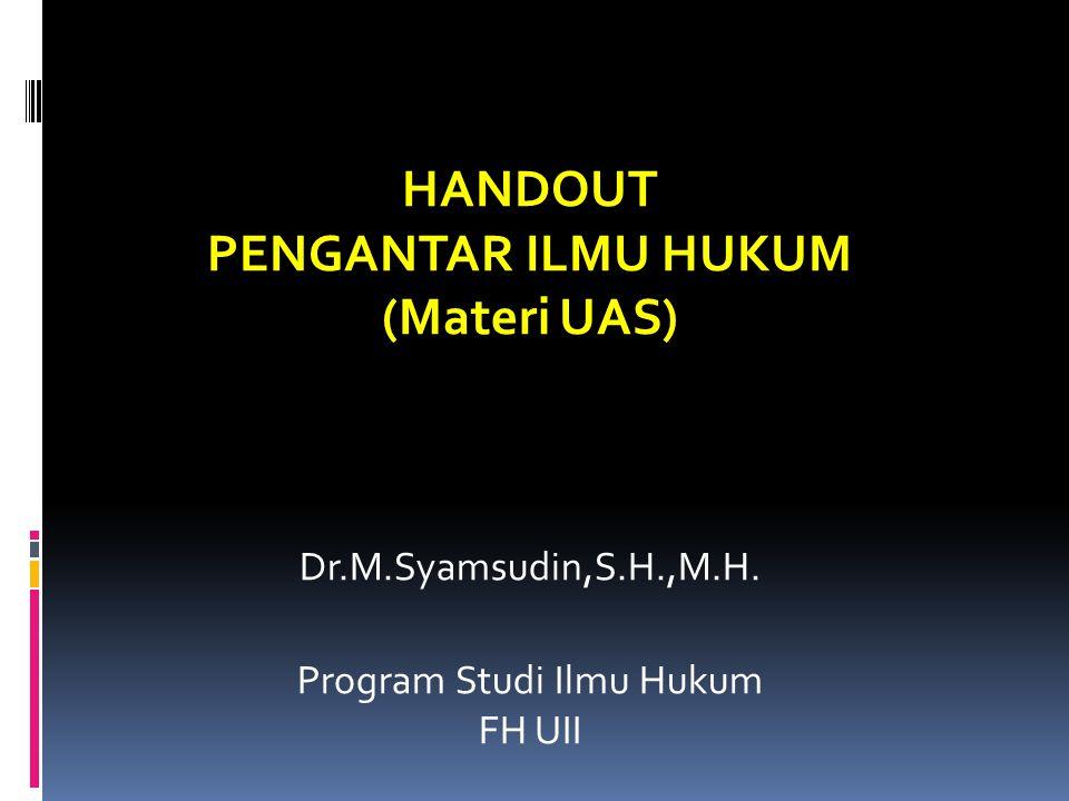 Program Studi Ilmu Hukum