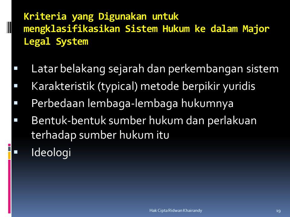 Latar belakang sejarah dan perkembangan sistem