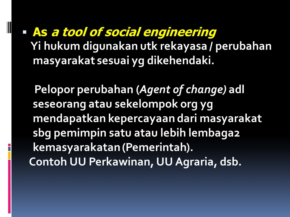 As a tool of social engineering
