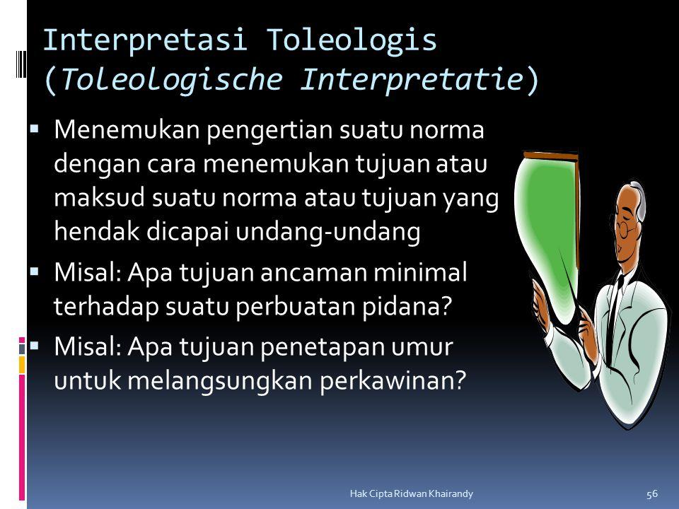 Interpretasi Toleologis (Toleologische Interpretatie)