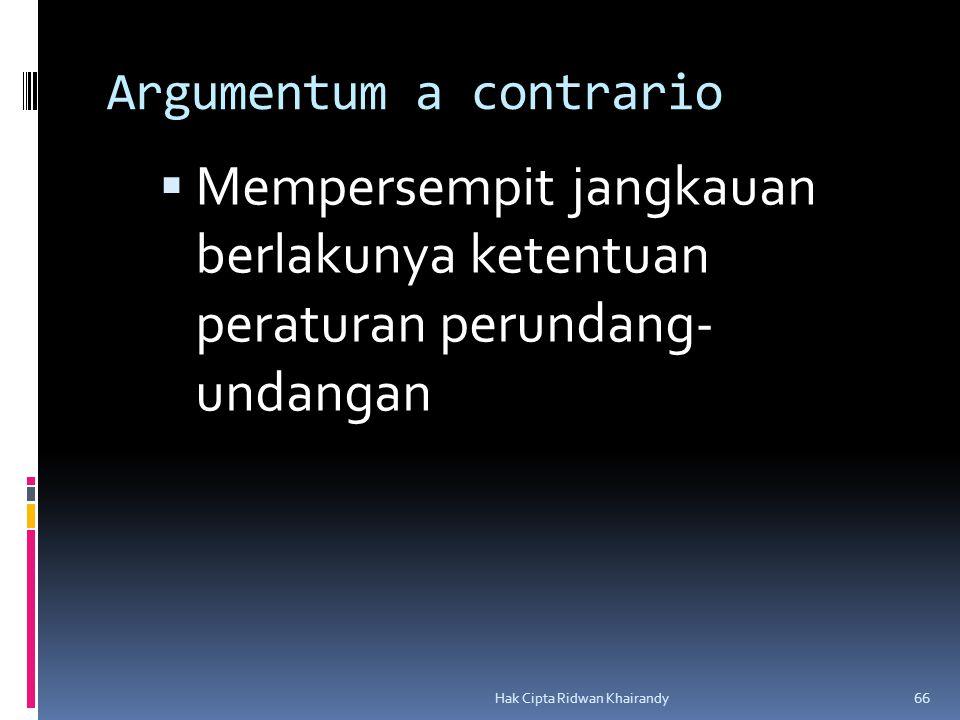Argumentum a contrario