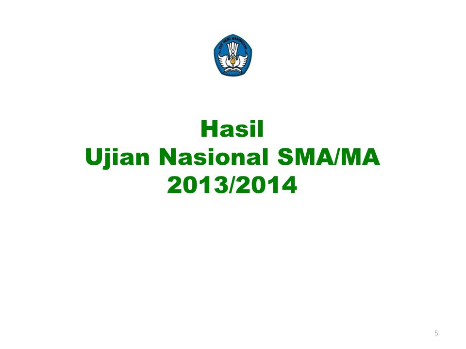 Hasil Ujian Nasional SMA/MA 2013/2014