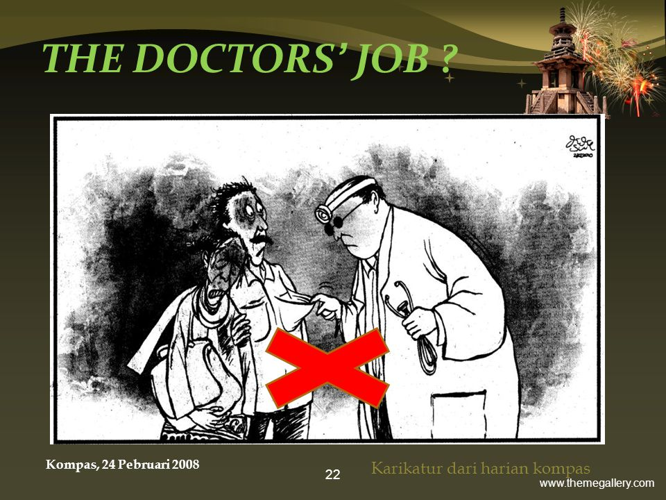 THE DOCTORS' JOB Karikatur dari harian kompas